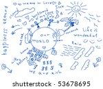 hand drawn dream vector