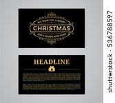 christmas greeting card design. ... | Shutterstock .eps vector #536788597