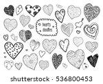 heart doodles | Shutterstock .eps vector #536800453