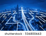 city scape and network... | Shutterstock . vector #536800663