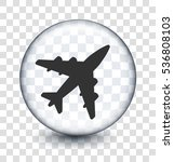 plane on transparent round... | Shutterstock .eps vector #536808103