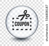 coupon with scissors on... | Shutterstock .eps vector #536808187