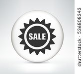 sale sign on white round button | Shutterstock .eps vector #536808343