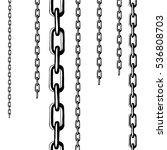 metallic chain abstract... | Shutterstock .eps vector #536808703