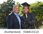 father and son holding hands. | Shutterstock . vector #536813113