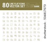 vector graphic set. icons in... | Shutterstock .eps vector #536817073