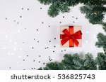 christmas presents with red... | Shutterstock . vector #536825743