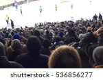 fans in the stadium supporting... | Shutterstock . vector #536856277