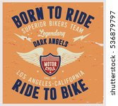 vintage biker graphics and... | Shutterstock .eps vector #536879797