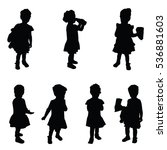 child silhouette cute set in...   Shutterstock .eps vector #536881603