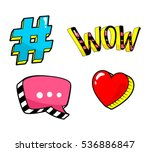 patch badge set isolated on... | Shutterstock .eps vector #536886847