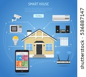smart house and internet of... | Shutterstock .eps vector #536887147