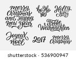 merry christmas and happy new... | Shutterstock .eps vector #536900947