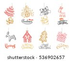 new year elements and...   Shutterstock .eps vector #536902657