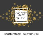 elegant happy new year... | Shutterstock .eps vector #536904343