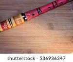 wooden flute    Shutterstock . vector #536936347