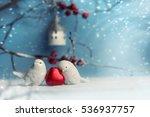 Two Cute Ceramic Birds In Love...