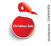 vector christmas sales tag or...   Shutterstock .eps vector #536944303