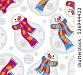 winter seamless pattern with... | Shutterstock .eps vector #536944423