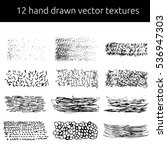 vector pen textures set. grungy ... | Shutterstock .eps vector #536947303