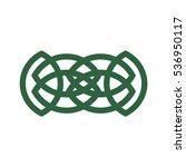 abstract vector celtic irish or ... | Shutterstock .eps vector #536950117