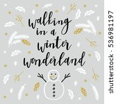 merry christmas card. seasons... | Shutterstock .eps vector #536981197
