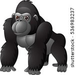 cartoon funny gorilla isolated... | Shutterstock .eps vector #536983237