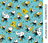 animal play music.vector... | Shutterstock .eps vector #536985523