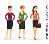 business women in various poses.... | Shutterstock .eps vector #536994493