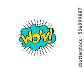 multicolored comic sound... | Shutterstock .eps vector #536999887