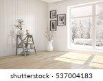 white room with modern...   Shutterstock . vector #537004183