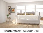 white room with sofa and urban... | Shutterstock . vector #537004243