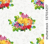 seamless pattern with colorful... | Shutterstock .eps vector #537014257
