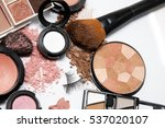makeup products on white... | Shutterstock . vector #537020107