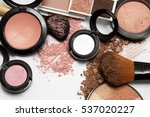 makeup products on white... | Shutterstock . vector #537020227