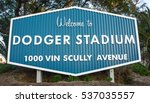 a welcome sign at the entrance... | Shutterstock . vector #537035557