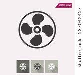 fan vector icon. illustration... | Shutterstock .eps vector #537042457