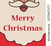 christmas white santa claus... | Shutterstock .eps vector #537047377