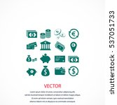 finance icons vector  flat... | Shutterstock .eps vector #537051733