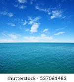 blue sea water surface on sky | Shutterstock . vector #537061483