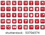 collection of red web buttons | Shutterstock .eps vector #53706574