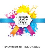 holi spring festival of colors... | Shutterstock .eps vector #537072037