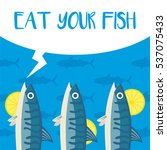 eat fish campaign | Shutterstock .eps vector #537075433