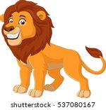 cartoon happy lion | Shutterstock .eps vector #537080167