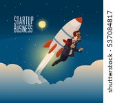 startup business  flat design... | Shutterstock .eps vector #537084817