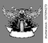 vintage biker label  emblem ... | Shutterstock . vector #537094273