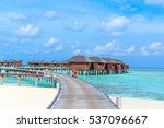 beautiful tropical maldives... | Shutterstock . vector #537096667