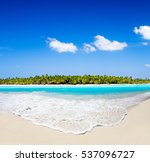 beautiful tropical maldives... | Shutterstock . vector #537096727