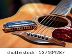 acoustic guitar with country... | Shutterstock . vector #537104287