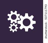 gear icon vector flat design...   Shutterstock .eps vector #537111793